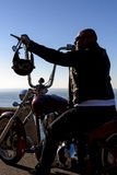 Chopper motorbike rider Royalty Free Stock Photography
