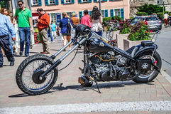 Chopper motorbike, Ruedesheim, Rheinland-Pfalz Royalty Free Stock Image