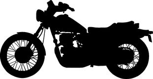Chopper motorcycle Royalty Free Stock Images