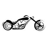 Chopper motorcycle. Illustration design Stock Photography