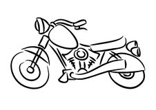 The chopper motorcycle. The cartoon picture of chopper motorcycle Stock Images