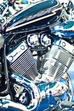 Chopper motorcycle engine Royalty Free Stock Photo