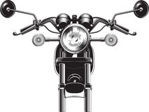 Chopper motorcycle front side. Stock Image