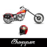 Chopper motorcycle Royalty Free Stock Photography