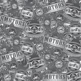Chopper motorcycle label background Royalty Free Stock Images