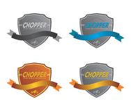 Chopper motorcycle Label sticker Royalty Free Stock Image
