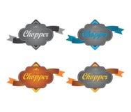 Chopper motorcycle Label sticker Stock Image