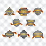 Chopper motorcycle Label sticker Stock Photos