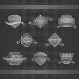 Chopper motorcycle Label sticker Stock Photography