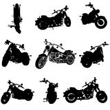 Chopper motorcycle set Royalty Free Stock Photos