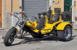 Chopper Motorcycle three wheels Stock Photography