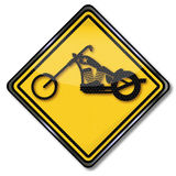 Chopper and motorcycles Royalty Free Stock Photography