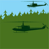 Chopper patrol Royalty Free Stock Photos