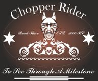 Chopper Rider, graphic design for Shirt stock images