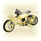 Chopper with a skull on the spotlight Royalty Free Stock Photo