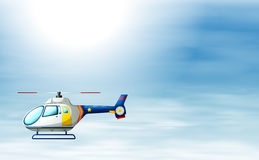 A chopper in the sky Stock Images