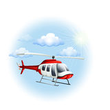 A chopper in the sky Royalty Free Stock Photos