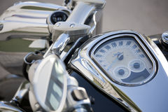 Chopper speedo. A chopper bike spectacular black color Royalty Free Stock Photo