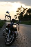 Chopper at the sunset Stock Image