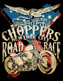 Choppers Vintage retro illustration typography t-shirt printing Stock Photos