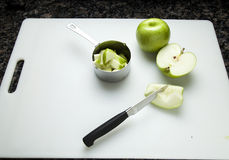 Chopping Apples Royalty Free Stock Photo