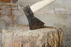 Chopping axe Royalty Free Stock Images