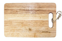 Chopping block from wood. On white background royalty free stock photo