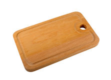 Chopping Board. Wooden chopping board isolated on the white Royalty Free Stock Photos