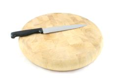 Chopping Board. On an isolated white background Royalty Free Stock Photography