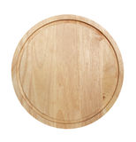 Chopping board. Round chopping board isolated on a white background Stock Photos
