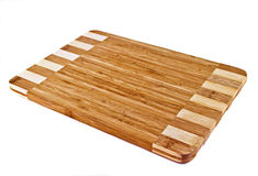 Chopping Board. Wooden chopping board over white stock photography