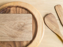 Chopping board and baking utensils Stock Photo