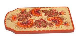 Chopping board (hohloma), isolated Royalty Free Stock Photo