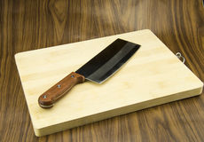 The chopping board, knife Stock Photography