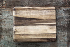 Chopping Board on Rustic Timber Stock Photo