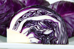 Chopping of cabbage closeup. Chopping of cabbage closeup on white royalty free stock images