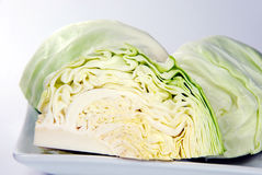 Chopping of cabbage closeup. Chopping of cabbage closeup on white background stock photo