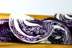 Chopping of cabbage closeup. Chopping of cabbage closeup on wood Stock Photo