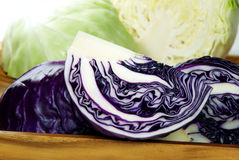 Chopping of cabbage closeup. Chopping of cabbage closeup on wood royalty free stock images