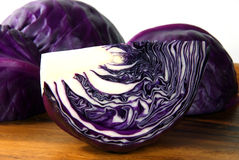 Chopping of cabbage closeup. Chopping of cabbage closeup on wood Stock Photos