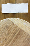 Chopping cutting board round shape Stock Images