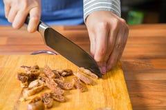 Chopping figs. Stock Photo