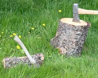 Chopping firewood Royalty Free Stock Image