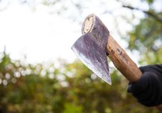 Chopping firewood Royalty Free Stock Image
