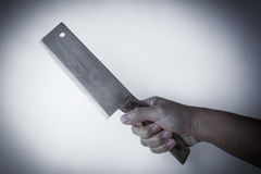 Chopping knife in hand Stock Photography