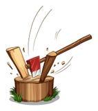 Chopping log Royalty Free Stock Photo