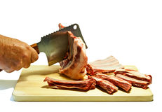 Chopping meat Royalty Free Stock Photos