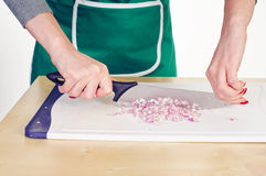 Chopping onion Royalty Free Stock Image