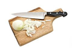 Chopping Onion Royalty Free Stock Photo
