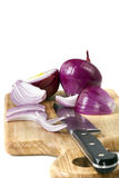 Chopping Onions Royalty Free Stock Photo